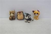 Lot of 4 Plush Animal Toys