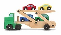 Melissa & Doug Car Transporter and Cars Wooden Toy