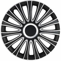 Alpena 59916 Le Mans Black-Silver Wheel Cover Kit