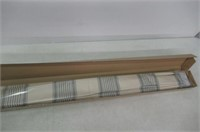 Vertical Stripe Roman Shade 002 Aquatic Beige And