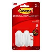 (3) Command Damage-Free Hanging Designer Hooks