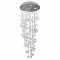 Ikakon Chandeliers Modern Crystal Raindrop Ceiling