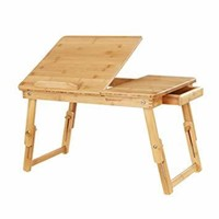 SONGMICS Folding Laptop Table Desk Adjustable