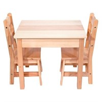 Melissa & Doug Wooden Table and 2 Chairs Set -