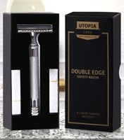 Double Edge Safety Razor with 20 Derby Blades -