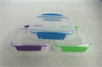 (3) Sistema Lunch Collection Food Storage