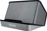 iHome Portable Rechargeable Stereo Speaker, Black