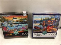 2 BOX OF PUZZLE