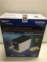 BROTHER PC AND MAC CONNECTABLE LABEL MAKER