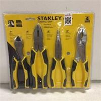 STANLEY CONTROL GRIP 4PC PLIERS SET