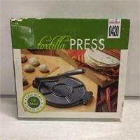 "TORTILLA PRESS CAST IRON 7.5"""