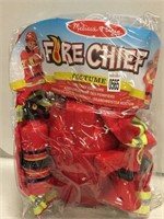 MELISSA & DOUG KIDS FIRE CHIEF COSTUME