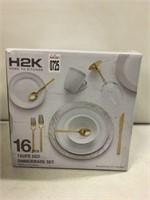 H2K 16PC DINNERWARE SET