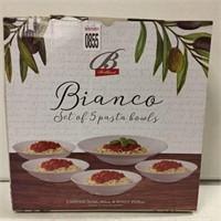 BIANCO SET OF 5 PASTA BOWLS