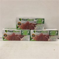 SET OF 3 FOODSAVER SEALING SYSTEM BAG