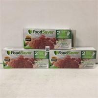 SET OF 3 FOODSAVER SEALING SYSTEM BAGS