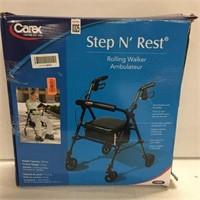 CAREX STEP 'N REST ROLLING WALKER