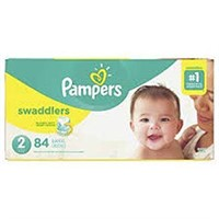 PAMPERS SWADDLERS SIZE 2 84 DIAPERS