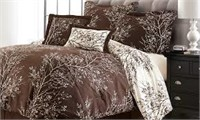 6PC REVERSIBLE COMFORTER SET NO SIZE(USED)