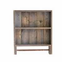 WOODEN TOWEL RACK WALL SHELF