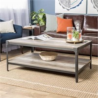 W.E. WOOD COFFEE TABLE (NOT ASSEMBLED)