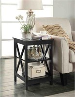 OXFORD END TABLE ESPRESSO (NOT ASSEMBLED)