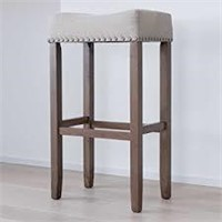 NATHAN JAMES PUB HEIGHT UPHOLSTERED STOOL