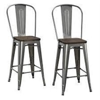 """24"""" BAR STOOL 2 IN TOTAL (NOT ASSEMBLED)"""