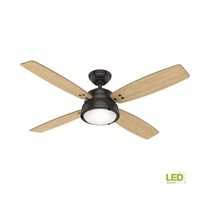 """HUNTER WINGATE 52"""" LED INDOOR CEILING FAN WITH"""