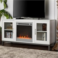 """52"""" AVENURE WOOD FIREPLACE TV CONSOLE WITH"""