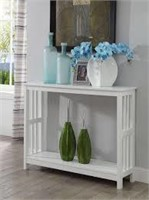 MISSION WHITE CONSOLE TABLE (NOT ASSEMBLED)