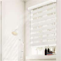 "CHICOLOGY WEST IVORY 50""X72"" CORDLESS ZEBRA"
