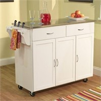EXTRA LARGE KITCHEN CART STAINLESS TOP