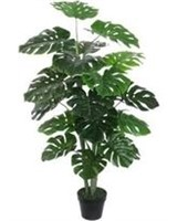 BAY ISLE HOME FAUX MONSTERA PLANT IN POT