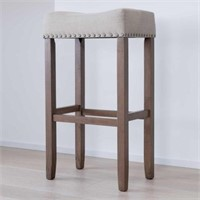 UPHOLSTERED STOOL (NOT ASSEMBLED)
