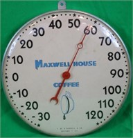 MAXWELL HOUSE ADVERTISING THERMOMETER,