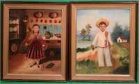 PR EARLY 20TH C. OIL ON CANVAS MEXICAN