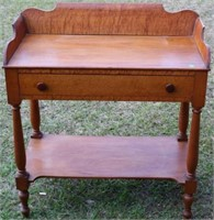 LATE 19TH C. SHERATON WASHSTAND WITH BACK