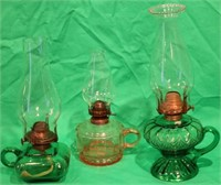 LOT OF 3 LATE 19TH C. PRESSED GLASS FINGER