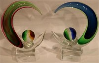 PR MURANO 20TH C. ART GLASS SCULPTURES,