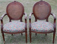 PR QUALITY FRENCH STYLE CARVED ARM CHAIRS WITH