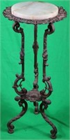 ORNATE LATE VICTORIAN IRON PLANT STAND WITH