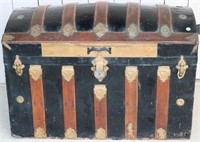REFINISHED SLATTED DOME TOP TRUNK, APPROX..
