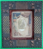 ORNATE VICTORIAN FRAMED PHOTO OF WOMAN