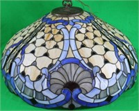 CONTEMPORARY LEADED GLASS HANGING LAMP