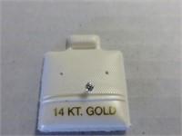 14kt White Gold Diamond Nose Stud