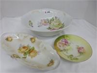 3pcs of Floral Glass (See Description)