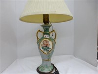 Table lamp - double gold handles and rose