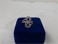 14Kt Rose Gold Ring w/Diamonds