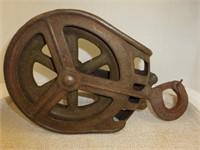 """Steel Pulley w/Hook-8 1/4"""" diameter"""